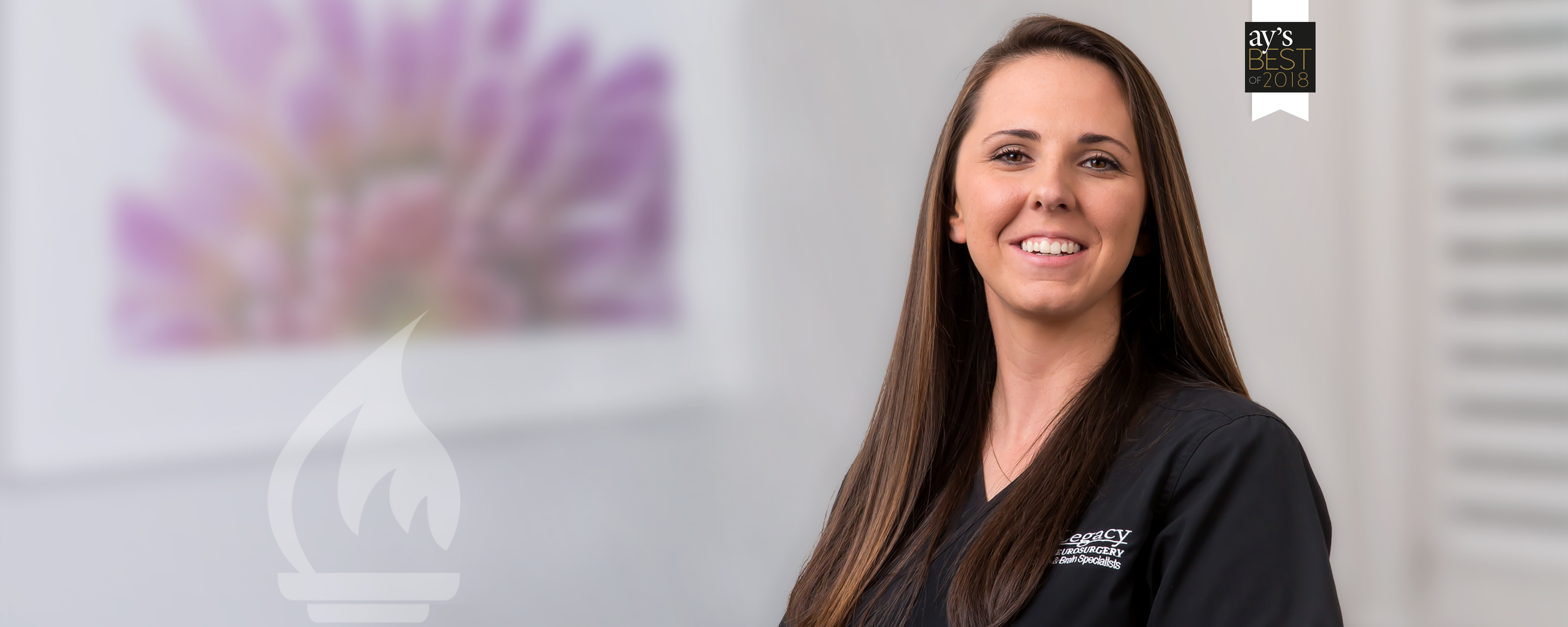 <span>Great work, Jessica!</span></br>Named a BEST</br>physical therapist</br>by AY readers.